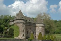 Château fort d'Auzers - Deutsch: Schloss Auzers (Cantal) in der Ortschaft Auzers, Auvergne, Frankreich