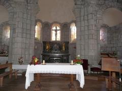 Eglise Saint-Jacques-le-Majeur - Le chœur de l'église Saint-Jacques-le-Majeur, Lanobre, Cantal, France.