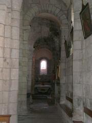 Eglise Saint-Jacques-le-Majeur - Collatéral de l'église Saint-Jacques-le-Majeur, Lanobre, Cantal, France.