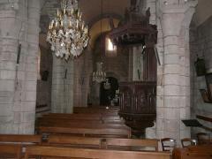 Eglise Saint-Jacques-le-Majeur - La nef de l'église Saint-Jacques-le-Majeur, Lanobre, Cantal, France.