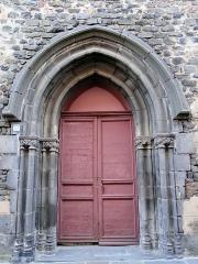 Ancienne église Saint-Vincent - Saint-Flour - Église Saint-Vincent - Portail sculpté de la façade principale, rue des Jacobins