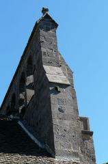 Eglise Saint-Martin - Français:   Le clocher-mur de l\'église, Les Ternes, Cantal, France.