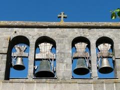 Eglise Saint-Martin - Français:   Les cloches de l\'église, Les Ternes, Cantal, France.