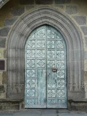 Eglise Saint-Martin - Français:   Le portail de l\'église Saint-Martin, Trémouille, Cantal, France.