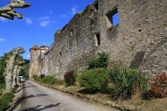 Ancien prieuré et remparts - Français:   Prieuré et remparts de Camon (Ariège, France).