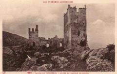 Ruines du château d'Arquizat - English: Chateau de Miglos postcard, 1900