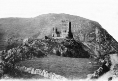 Ruines du château d'Arquizat - English: Château de Miglos, 1900