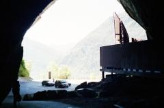 Grotte de la Calbière dite Grotte de Niaux -  Entrée de la grotte ornée de Niaux en Ariège.