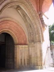 Cathédrale Saint-Antonin - Portail de la cathédrale de Pamiers (Ariège, France) - briques toulousaines.