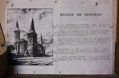 Eglise Notre-Dame - Français:   Église Notre-Dame de Sentein Plaque explicative