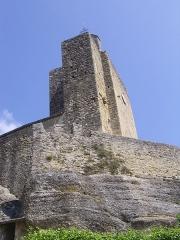 Eglise Notre-Dame et croix de pierre -  Eglise de Vals (Ariège, France)