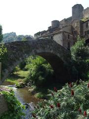 Vieux pont gothique sur l'Abrance - English: Brousse-le-Château, Aveyron, FRANCE