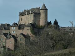 Vestiges du château de Panat et ruines de l'église - Français:   Façade sud et tour est du château de Panat