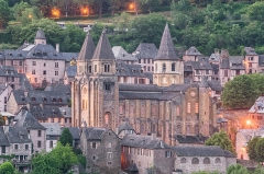 Ancienne abbaye Sainte-Foy - English: View of Sainte Faith Abbey Church of Conques, Aveyron, France        This place is a UNESCO World Heritage Site, listed as Chemins de Saint-Jacques-de-Compostelle en France.  العربية | Asturianu | Беларуская | Беларуская (тарашкевіца) | বাংলা | Català | Čeština | Dansk | Deutsch | English | Español | Euskara | فارسی | Français | עברית | Hrvatski | Magyar | Italiano | 日本語 | 한국어 | Latviešu | Македонски | മലയാളം | مازِرونی | Nederlands | Polski | Português | Русский | Slovenčina | Slovenščina | Türkçe | Українська | Tagalog | Tiếng Việt | 中文(简体) | 中文(繁體) | +/−          This building is classé au titre des Monuments Historiques. It is indexed in the Base Mérimée, a database of architectural heritage maintained by the French Ministry of Culture, under the reference PA00093999 .  বাংলা | brezhoneg | català | Deutsch | Ελληνικά | English | Esperanto | español | euskara | suomi | français | magyar | italiano | 日本語 | македонски | Nederlands | português | português do Brasil | română | русский | sicilianu | svenska | українська | +/−