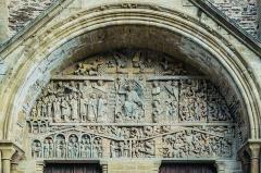 Ancienne abbaye Sainte-Foy - English: Tympanum of Saint Faith Abbey Church of Conques, Aveyron, France       This place is a UNESCO World Heritage Site, listed as Chemins de Saint-Jacques-de-Compostelle en France.  العربية| Asturianu| Беларуская| Беларуская (тарашкевіца)| বাংলা| Català| Čeština| Dansk| Deutsch| English| Español| Euskara| فارسی| Français| עברית| Hrvatski| Magyar| Italiano| 日本語| 한국어| Latviešu| Македонски| മലയാളം| مازِرونی| Nederlands| Polski| Português| Русский| Slovenčina| Slovenščina| Türkçe| Українська| Tagalog| Tiếng Việt| 中文(简体)| 中文(繁體)| +/−