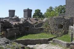 Donjon et les restes du château -  The barbivan seen fron the dorway to the Templars' castle.
