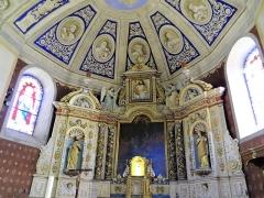 Eglise Saint-Thomas-de-Cantorbéry - Mur-de-Barrez - Église Saint-Thomas-de-Cantorbéry - Chœur et retable