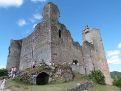 Vestiges du château et sa deuxième enceinte - Château de Najac (accès à la cour intérieure)