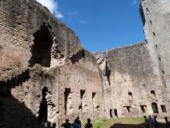 Vestiges du château et sa deuxième enceinte - Vue partielle de la cour intérieure du château de Najac (Aveyron)