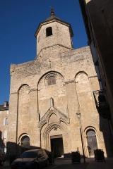 Eglise Saint-Pierre -  Church of Nant (Gorges du Dourbie) in the eveningsunshine