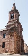 Eglise Saint-Amans -  Fachada y el campanario de la iglesia de Saint-Amans