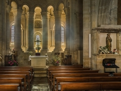 Eglise - English: Interior of the Saint Eulalia Church of Sainte-Eulalie-d'Olt, Aveyron, France