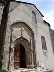 Eglise - Salles-Curan - Église Saint-Géraud - Portail de l'église