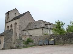 Eglise de Souyris - Français:   Presbytère accolé à la façade sud de l\'église de Souyri