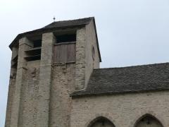 Eglise de Souyris - Français:   Le clocher de l\'église de Souyri dans sa partie haute