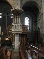 Eglise Notre-Dame-de-l'Assomption -  Pulpit of white and gray marbles of  Saint-Béat work of the marble master Aimé GERUZET of Bagnères-de-Bigorre.
