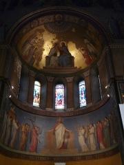 Eglise Notre-Dame-de-l'Assomption - Fresques du chœur de l'église Notre-Dame de l'Assomption, œuvre de Romain Cazes, Bagnères-de-Luchon, Haute-Garonne, France.