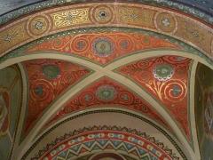 Eglise Notre-Dame-de-l'Assomption - Le plafond de la chapelle du Sacré-Cœur de Jésus, œuvre de Bertrand Bernard en 1893, église Notre-Dame de l'Assomption, Bagnères-de-Luchon, Haute-Garonne, France.
