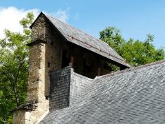 Eglise de Benque-Dessus - Français:   Le clocher-mur de l\'église Saint-Blaise de Benque-Dessus vu depuis le sud-est, Haute-Garonne, France.