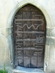 Eglise de Benque-Dessus - Français:   La porte de l\'église Saint-Blaise de Benque-Dessus, Haute-Garonne, France.