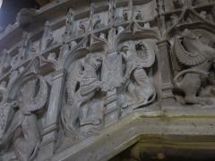 Eglise Sainte-Marie - Français:   Détail de la chaire de l\'église de Boulogne-sur-Gesse