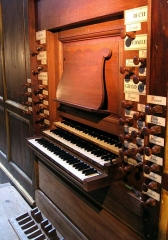 Eglise Notre-Dame - English: Organ of Cintegabelle (France) : Keyboards and Stops