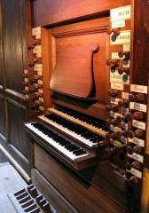Eglise Notre-Dame - English: Organ of Cintegabelle (France): Keyboards and Stops