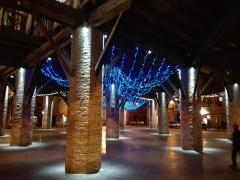 Halle -  halle de Grenade - éclairage de fêtes de fin d'annees