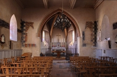 Eglise - English: Choir of the 13th century church in Pechbonnieu