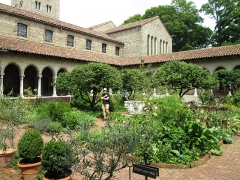 Ancienne abbaye de Bonnefont (également sur commune de Sepx) - English: The Bonnefont Cloister in The Cloisters museum of the Metropolitan Museum in Fort Tryon Park, Manhattan, New York City