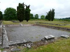 Ruines antiques - Les vestiges des thermes du nord de Lugdunum Convenarum, Saint-Bertrand-de-Comminges, Haute-Garonne, France.