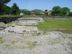 Ruines antiques - Lugdunum Convenarum: le temple dédié au culte de l'empereur