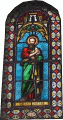 Eglise -  Saint Paul vitrail de l'église de Saint Pé D'ardet