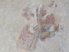 Eglise -  Annonciation (Cycle de l'Enfance, fresques de l'Eglise Saint Pierre de Saint Pé D'ardet)