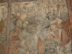 Eglise -  Fresque (Cycle de la Passion) de l'arrestation du Christ de l'église de Saint Pé d'Ardet