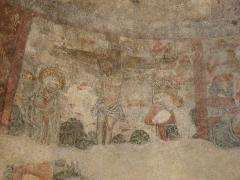 Eglise -  Fresque (Cycle de la Passion) de la crucifixion du Christ de l'église de Saint Pé d'Ardet