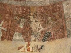 Eglise -  Fresque (Cycle de la Passion) de la Flagellation du Christ de l'église de Saint Pé d'Ardet