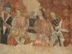 Eglise -  Fresque (Cycle de la Passion) du Jugement du Christ par Pilate de l'église de Saint Pé d'Ardet