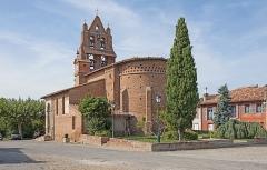 Eglise - English:   Saint-Sauveur, Haute-Garonne. Church of the Holy Saviour, apse.