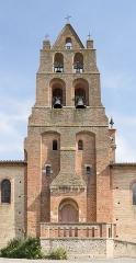 Eglise - English:   Saint-Sauveur, Haute-Garonne. Church of the Holy Saviour, bell gables.